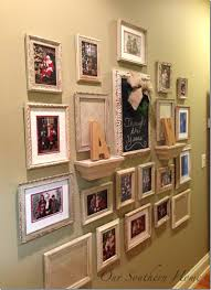 gallery wall santa photos our southern home