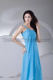 aquamarine bridesmaid dresses blue one shoulder chiffon prom gown bridesmaid dresses