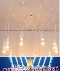 Diy Vintage Chandelier Discount Retro Chandelier E26 E27 Spider Lamp Pendant Bulb Holder