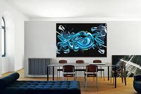 tableau bureau tableau abstrait graff izoa intéressant tableau deco pour bureau