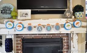 baby shower banner ideas baby shower ideas shower theme all things thrifty