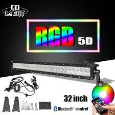co light 32 22 5d led light bar rgb strobe flash multicolor led