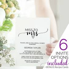 rustic bridal shower invitations printable bridal shower invitation template miss to mrs tea