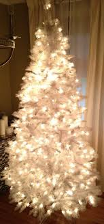 white tree with white lights lights decoration