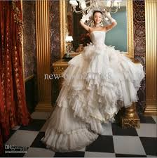 wedding dresses fluffy discount luxury fluffy wedding dress strapless chapel