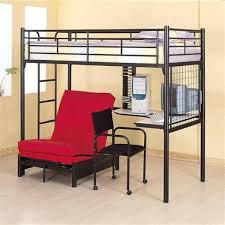 futon desk combo futon desk combo black metal twin sized loft bed with built in interior