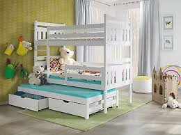 3ft Bunk Beds New Bunk Beds Meggi 3 Sleeper White 3ft Pine Wooden Childre