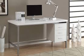 white modern desk plan ideas