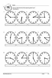 17 best images of time to the quarter hour worksheets telling