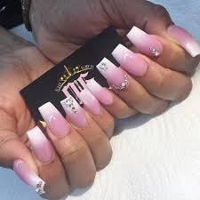 7 pink and white nails with designs pink and white nails with