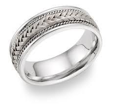 braided wedding bands platinum braided wedding band ring