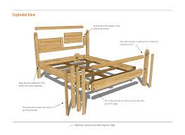 queen bed plans bed plans diy u0026 blueprints