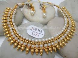 bridal gold set pearl maala set wholesale indian jewellery traditional