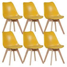 chaises jaunes altobuy mevik lot de 6 chaises jaunes neuf ebay