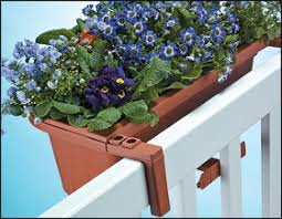Rail Hanging Planters by Fence U0026 Railing Planters Lee Valley Tools