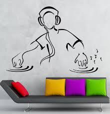 online get cheap 3d music aliexpress com alibaba group hwhd 2016 new dj wall stickers dj music party night club dance floor vinyl decal free