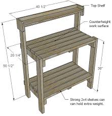 Simple Wood Bench Instructions by 25 Best Potting Bench Plans Ideas On Pinterest Potting Station
