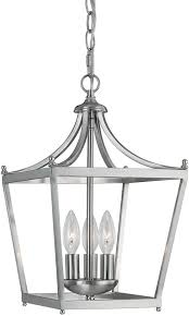 Brushed Nickel Light Fixtures Capital Lighting 4036bn Stanton Brushed Nickel Foyer Light Fixture