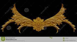 ornament elements vintage gold floral designs stock photo image