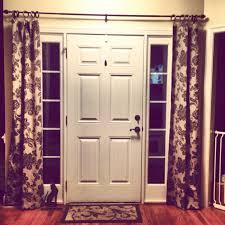 curtains for front door window home design