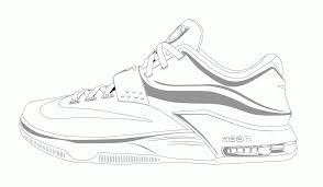 basketball shoe coloring page eson me
