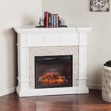 Corner Electric Fireplace Merrimack Corner Convertible Infrared Electric Fireplace White