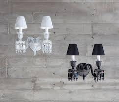 Black Interior Wall Lights Baccarat U2013 Zenith Wand Lamp Wall Sconce White U0026 Black Noir