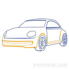 how to draw a simple car u2013 pop path