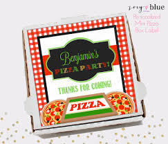 personalized pizza boxes pizza box label pizza party birthday favor tag mini pizza box