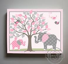 buy elephant nursery art canvas art jungle nursery decor