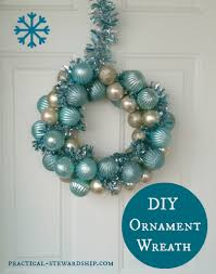 How To Make Christmas Wreath With Ornaments Diy Ornament Wreath Tutorial Practical Stewardship
