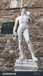 michelangelos replica david statue florence stock photo 63103369