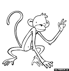 monkey coloring pages love coloring pages 14 free printable
