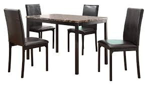 Cannes Dining Table Amazon Com Homelegance Tempe 5 Piece Metal Dinette Set Laminated