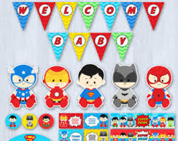 batman baby shower decorations baby etsy