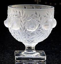 Lalique Vases Ebay Lalique Elizabeth Vase Ebay