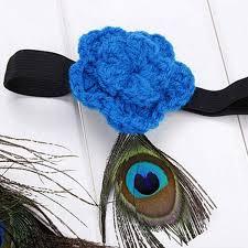 peacock headband newborn baby boys peacock feather skirt lace headband