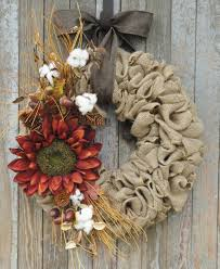 burlap sunflower wreath fall sunflower wreath fall burlap wreath sunflower grapevine