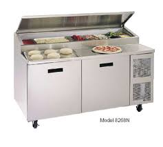 48 inch sandwich prep table used 8148npcb randell prep table refrigerated raised rail 48 l 1