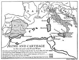 Blank Ancient China Map by Week5 Map Of Rome And Carthage In The 1st And 2nd Punic Wars 1933