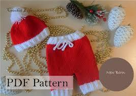 Christmas Tree Hat Knitting Pattern Baby Santa Santa Set Baby Santa Hat Pdf Pattern Knitting