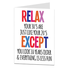 funny 30th birthday card perfect for son or daughter