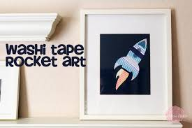Washi Tape Wall by Washi Tape Rocket Art