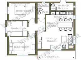 Victorian Floor Plan by 2 Story Floor Plans Without Garage Small Three Bedroom House