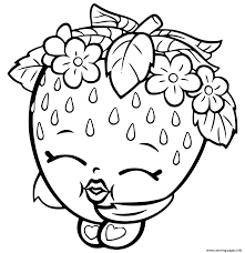 strawberry coloring page print shopkins strawberry coloring pages