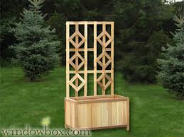 Wooden Planter With Trellis Outdoor Trellis Garden Trellises Flower Trellis