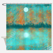 turquoise shower curtains cafepress