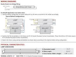 rewire fluorescent light for led keystone kt led54t8 96p 865 d 54w 120 277v 6500k 5900 lumen 8 t8