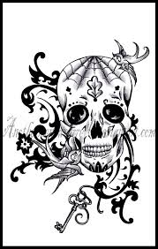 awesome dia de los muertos sugar skull tattoo design in 2017 real