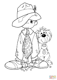 boy with a dog coloring page free printable coloring pages